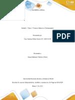 Unidad 1- Tarea 2 Vectores, Matrices y Determinantes