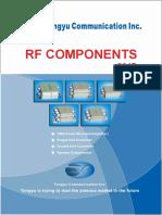 Tongyu RF Components Catalogue 2017