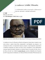 Dossiê para conhecer Achille Mbembe