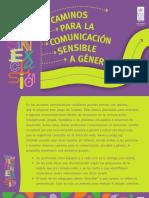 CAMINOS PARA LA COMUNICACIÓN SENSIBLE A GÉNERO impresora