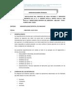 ESPECIFICACIONES TECNICAS PAYLLAS