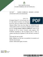 Edicto - Solicitud de carta de ciudadanía de Gerardo Antonio, Yaremi Zambrano