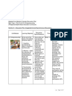 Sample Discussion Plan for Asynchronous Online Learning