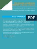Programas 2020 Pruebas Electivas Ciencias Historia