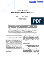 Voice therapy does science support the art