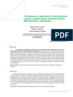 Maia-Carneiro Et Al. 2012 - Description of Three Defensive Strategies by Dipsas Alternans