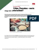 So unterscheiden sich Crêpe, Omelette und Pancakes - Blick