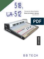 CA518 = Console ( mesa para radiofusão)