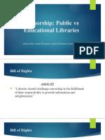 censorship - public vs educational libraries
