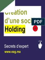 Création d'une société Holding