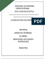 MEMORIA DE DERECHO ROMANO III