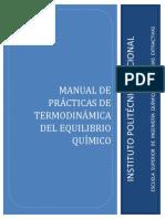 MANUAL TERMODINAMICA EQUILIBRIO QUÍMICO 2017