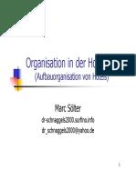 Organisation in Der Hotellerie