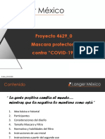 Presentacion Mascara Protectora contra Covid