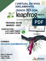 BROCHURE MODELAMIENTO GEOLÓGICO 3D CON LEAPFROG GEO 4