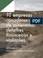 10 empresas canadenses de mineração_ detalhes financeiros e violações - anexo