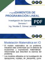 Fundamentos de Programación Lineal