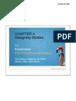 4.2 Experimental Designs