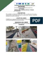 INFORME DE ACTIVIDADES REALIZADAS DURANTE EL A¥O 2019