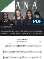 Mana 5 Partituras en PDF