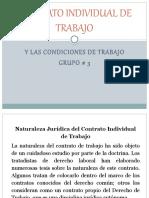 CONTRATO INDIVIDUAL DE TRABAJO PRESENTACION