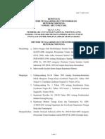 Kep 75_MEN_2002 Tentang Pemberlakukan SNI Instalasi Listrik di Tempat Kerja