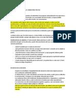 ASPECTOS ESPECIALES DE LAS CONDICIONES PREVIAS