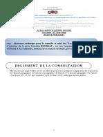 Réglement de Consultation