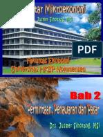 2. PERMINTAAN, PENAWARAN & PASAR