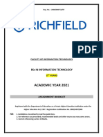 BSc Second Year Assignment Booklet