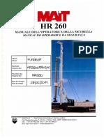 HR-260 (Manual do Operador e da Segurança)