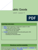unit 5 - lesson 11 - public goods