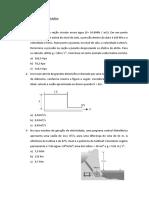 Lista de Exercícios - Hidráulica básica