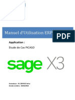 ERP SAGE X3  Support Etudiant