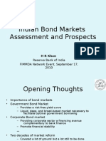 Indian Bond Markets Asses Ment and Prospects