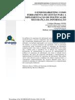 O ENDOMARKETING COMO FERRAMENTA DE GESTÃO PARA A IMPLEMENTAÇÃO DE POLÍTICAS DE SEGURANÇA DA INFORMAÇÃO