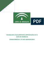 Unidad didáctica 1. El acto administrativo