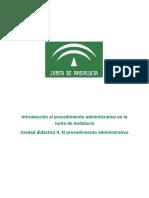 Unidad didáctica 2. El procedimiento administrativo