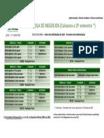 Cronograma - ADM, C_CONT e C_ECON - Calouros e 2º sem