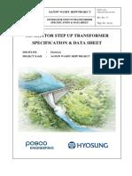 Vendor Print for Generator Step-up Transformer
