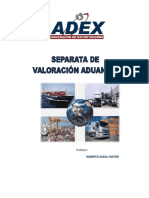 valoracion aduanera adex