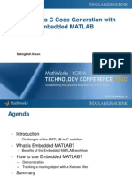 C code generation with Embedded MATLAB (Conference 2010)