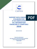RAPPORT SUR LE PROCESSUS D ELABORATION ET DE VERIFICATION DE L INFORMATION FINANCIERE ET COMPTABLE 2016
