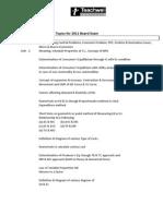 important Topics for 2011 Board Exam ECONOMICS