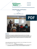 Planning Principles and Practices - VTPI