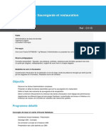 Programme Oracle 11g R2 - Sauvegarde et restauration (1)