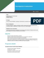 Programme Oracle 11g R2 - Sauvegarde et restauration