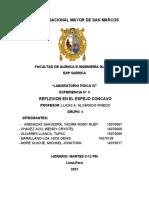 INFORME DE LABORATORIO - ESPEJO CONCAVO