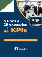 eBook 5 Tipos e 29 Exemplos de KPIs