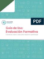 Guía de uso Evaluación Formativa clase 1